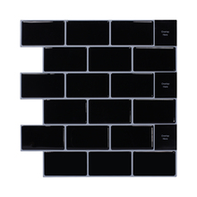 Fireplace Black Tile Backsplash Kitchen <strong>Bathroom</strong> Showroom 12*12 Inch Peel and Stick <strong>Wall</strong> Tile Interior <strong>Wall</strong> Home <strong>Decor</strong>