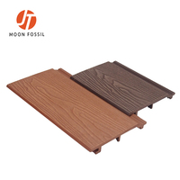 MFT167S21 OUTDOOR 3D EMBOSSING WALL PANEL SYNTHETIC WOOD PANELING 3D WOOD GRAIN WOOD PLASTIC COMPOSITE WALL CLADDING