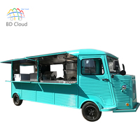 Multi-function retro food truck for burger for sale in europe