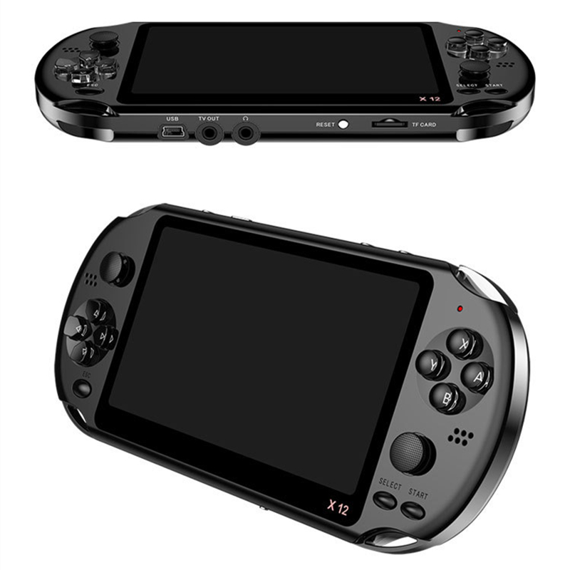 2020 New 3500 In 1 Childhood Classic Games <strong>X12</strong> Portable Handheld Video Game Console 8GB 5.1'' 32Bit Game Player