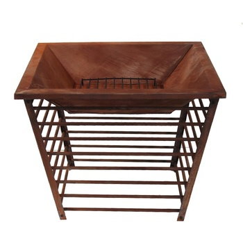 outdoor wood burning square rust fire pit