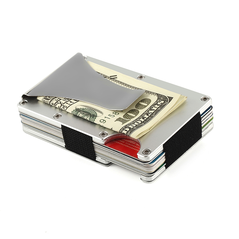 Minimalist stylish Travel  RFID Blocking Credit Card Holder Wallet with clip for Men & Women