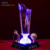 Crystal with LED Light circle 10leds base KR10 for trophies and awards