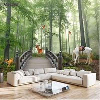 3D mural wallpaper home decoration forest design wall covering material