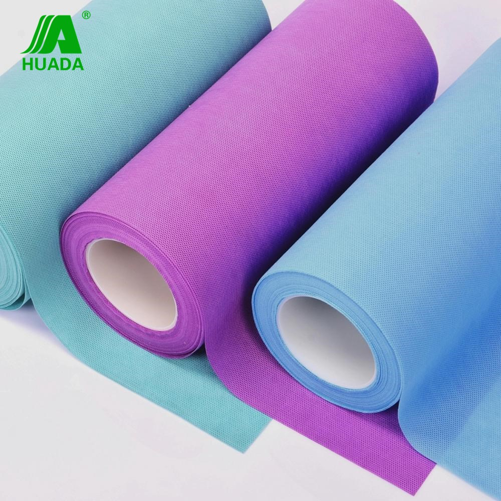 SMS polypropylene non woven fabric 100% PP medical spunbonded nonwovens for bedsheet ,face mask ,diaper