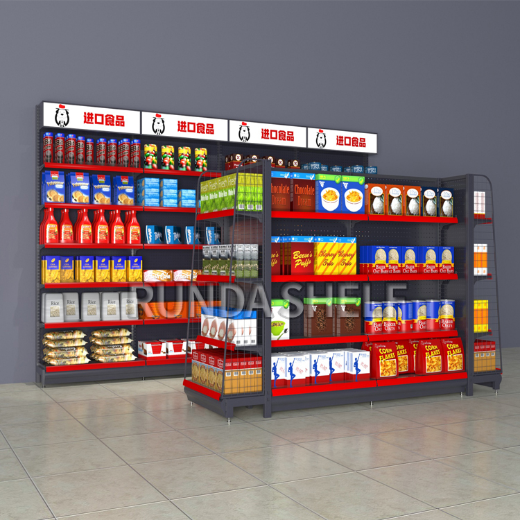 Runda supermarket equipment gondola shelving <strong>retail</strong> displays adjustable pharmacy shelves