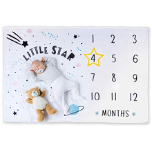 BSCI Audit 15 Years Factory 100% Polyester Customized Baby Monthly Milestone Blanket