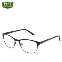 Solid Color Fashion Retro Cateye Men Women Metal Eyewear Stainless Steel Frame Prescription Myopic Unisex Optical Glasses