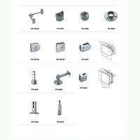 stainless rail simple look wall to tube handrail Staircase Glass/Wall Mounting Stainless steel baluster/ glass bracket