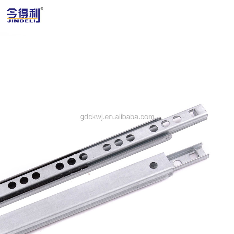 27mm Furniture Hardware Channel Telescopic Drawer Slide Rail Double Travel Way Drawer Slide