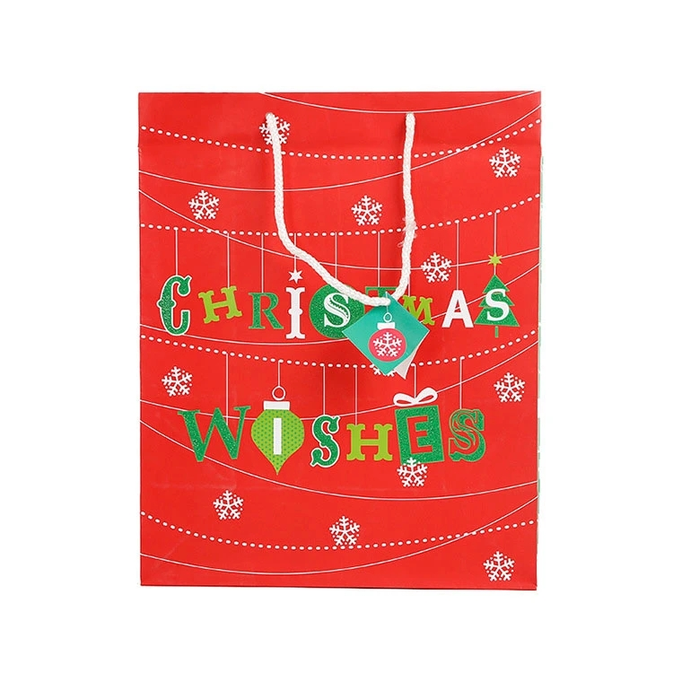 Christmas Gift Packing Printed Shopping Paper Gift Bags