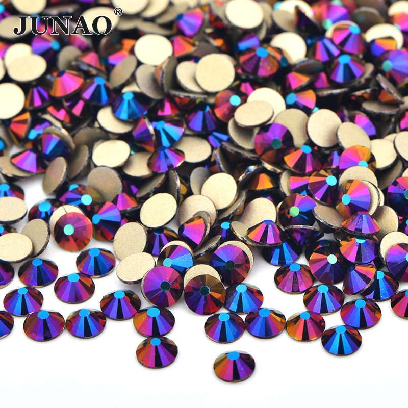ss6 ss8 ss10 ss16 ss20 ss30 Colorful Purple AB <strong>Crystal</strong> Strass Round Glass Flatback Rhinestones for Clothes Decoration
