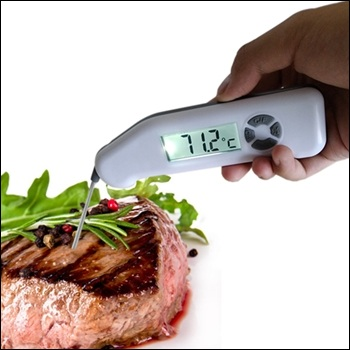Ultra Fast Waterproof Instant Read Digital Food Meat Thermometer for Grill And Cooking With Extra Probe