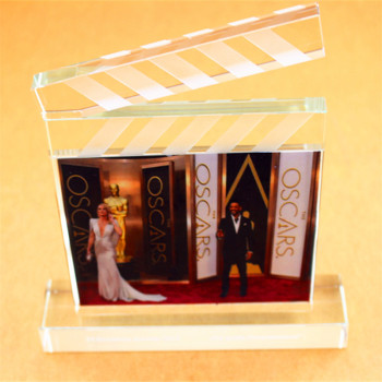 2019 New Design K9 Crystal Hollywood Clapperboard Award For Movie Stars GIfts