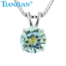 one-time forming mixed special color 7mm cz stone pendants round shape with 925 silver for necklace