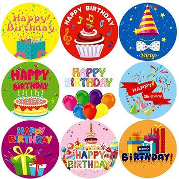 Best Seller Happy Birthday Sticker for Wholesale