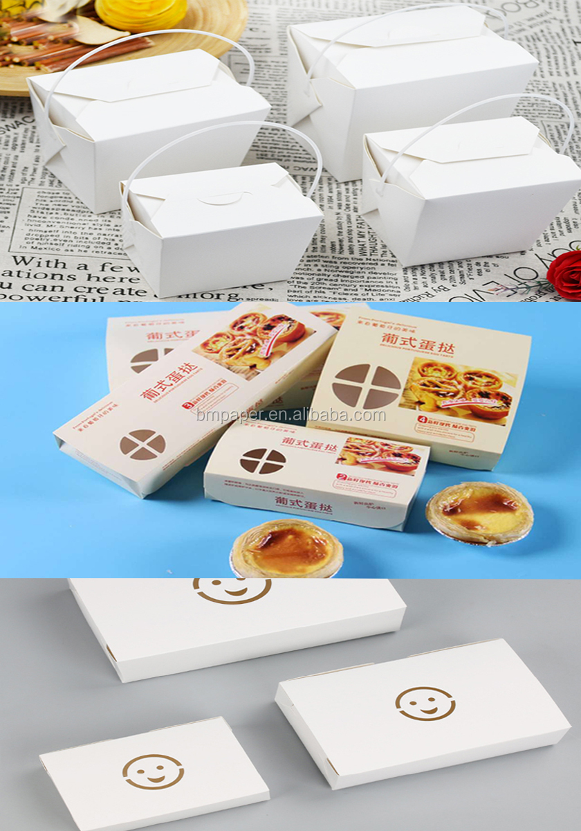 White FBB Board 300G Poly Coated Paper Board FDA food Packaging box board