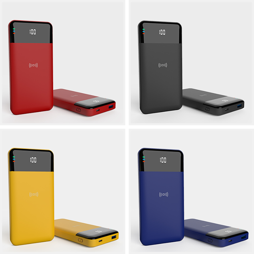 Custom Logo 10000mAh 10W 18W 22.5W Fast Digital Wireless Power Bank Charge Wireless Battery
