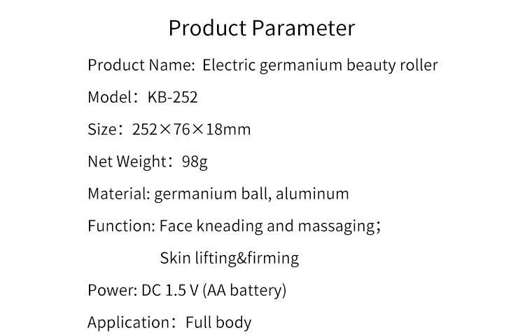 3D Germanium Vibrating Anti-aging Massage Face Roller