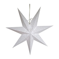 Christmas ornaments Heptagon pendant ceiling decoration paper stars three-dimensional hollow-out luminous seven-color