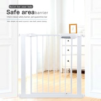Hot selling factory supply Pressure mounted gate Metal door baby safety gate for pets and children