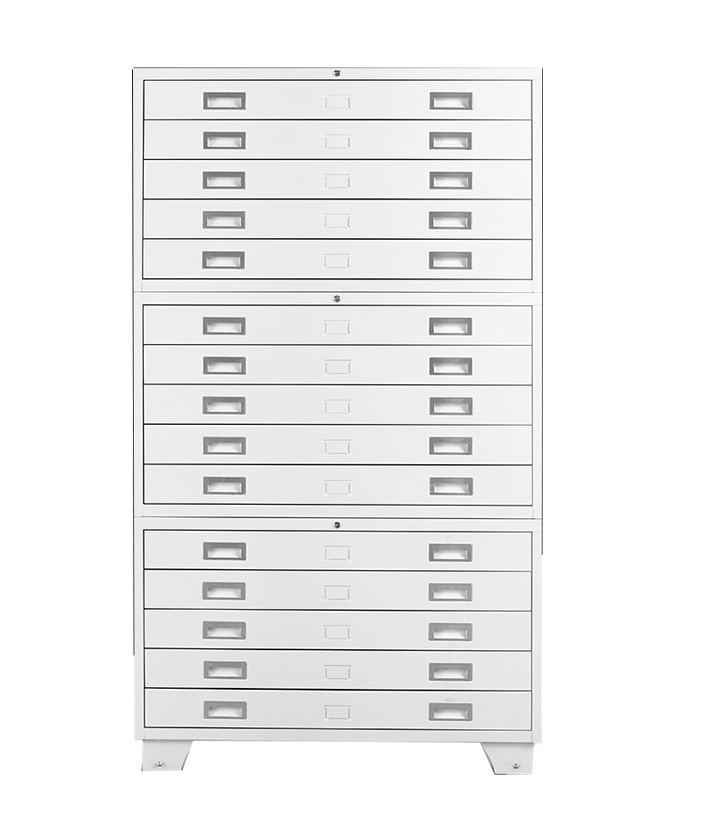 Office equipment durable mental drawer steel engineering drawing map storage filing cabinet
