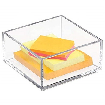 Customized clear Lucite 4x6 acrylic paper sticky note pad holder