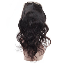 Chinese factory body wave silk base 360 lace frontal black closure