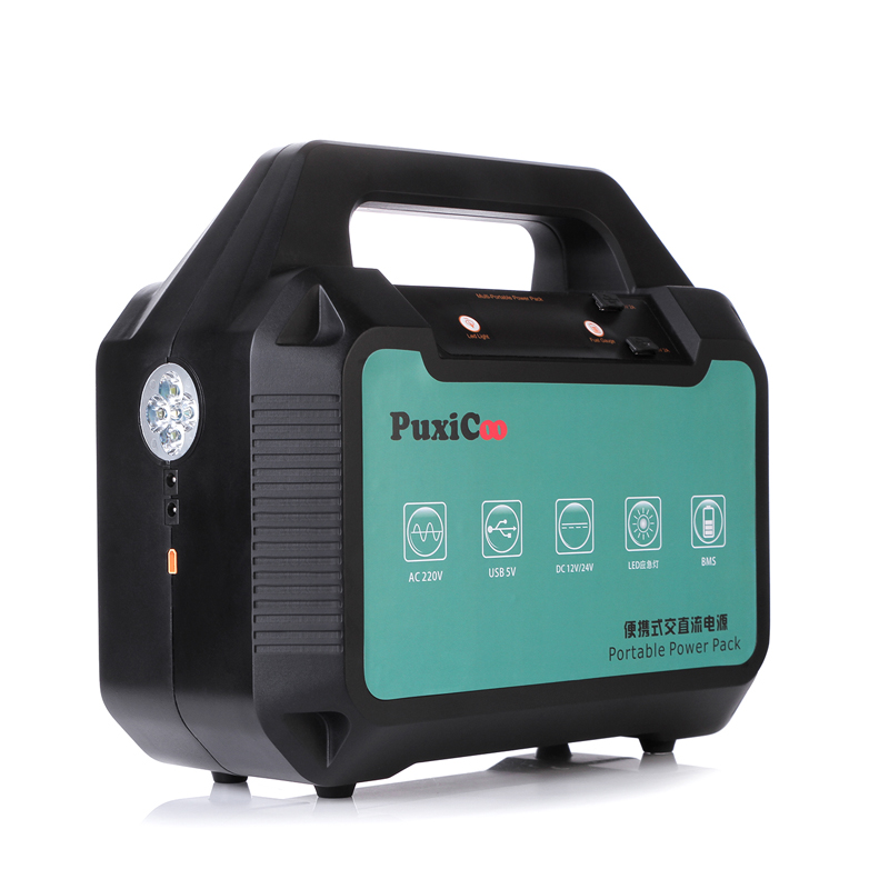 PUXICOO 1000W New Version Portable Solar Energy Storage Power Station For <strong>AC</strong> and DC Outputs For Camping Battery