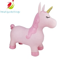 Children outside Indoor Inflatable Bouncing animal Toys Jumping Hopper Unicorn with Glitter finished