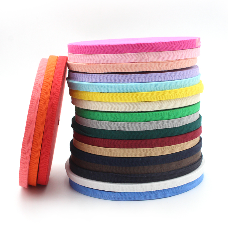 50y <strong>Cotton</strong> Webbing Ribbon Band Strap Tape DIY Handmade scrapbooking Sewing Gift Packaging Accessories Herringbone Ribbon