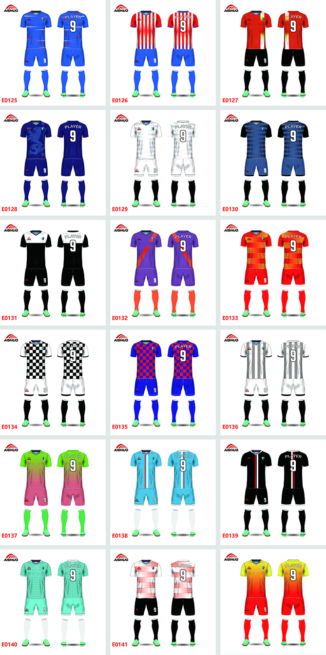 Wholesale team club custom embroidery patch sublimated soccer jersey set for men