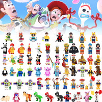 All Disneyly Anime Cartoon Toy Story DIY Mixed mini action Figure Compatible Blocks toys For kids Doll