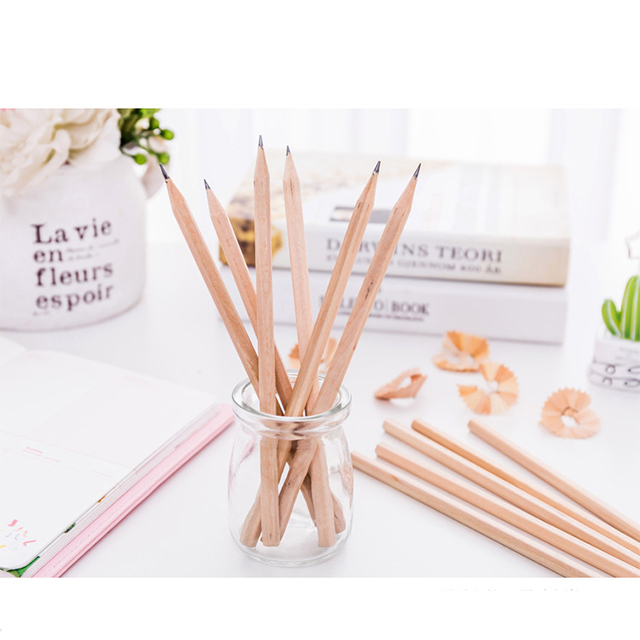 Custom Log pencil environmental protection wooden pencils keeps writing children HB pencils