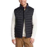 Men winter warm padded vest,waterproof windproof quilt down vest