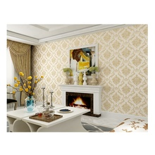 Simple european-style luxury non-woven wallpaper 3D gold Living Room TV background wallpaper wall design