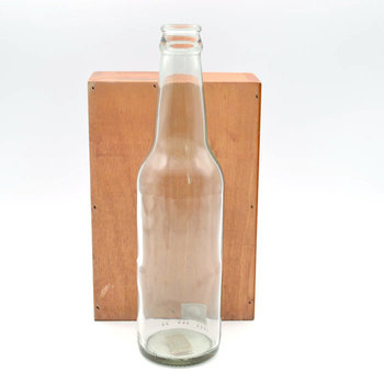 300ml 330ml Empty Clear Round Beer Bottle / Soda Water Glass Bottle with Screw Cap