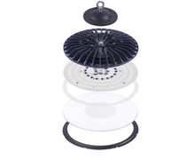 Factory price high quality driverless 100W UFO Highbay Light with AC220V linear IC AC DOB <strong>LED</strong> driver