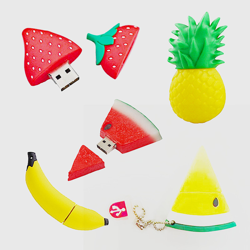 USB3.0 No logo PVC Fruit USB Key Watermelon USB Drives Fruit Capacity Enough U Disk USB Flash Drive USB3.0 New Key U Stick 128GB