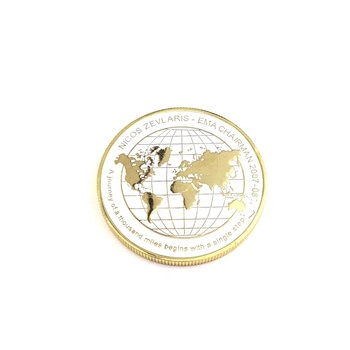 High quality Souvenir metal map award challenge coin