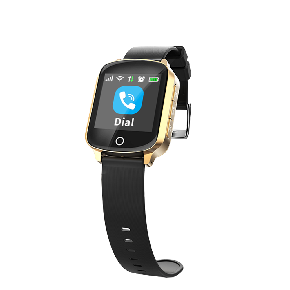 OEM D200 <strong>D100</strong> Fall Down Alert GPS Tracker Watch For Old Man Heart Rate Seniors Watch