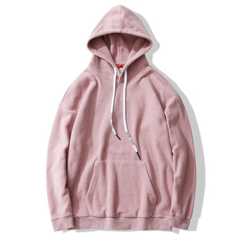 Hot Fleece blank Custom 100% Polyester Thick Pink Hoodie Men