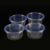 Disposable Plastic Round Takeaway Food Container with Lid for Microwave and Freezer