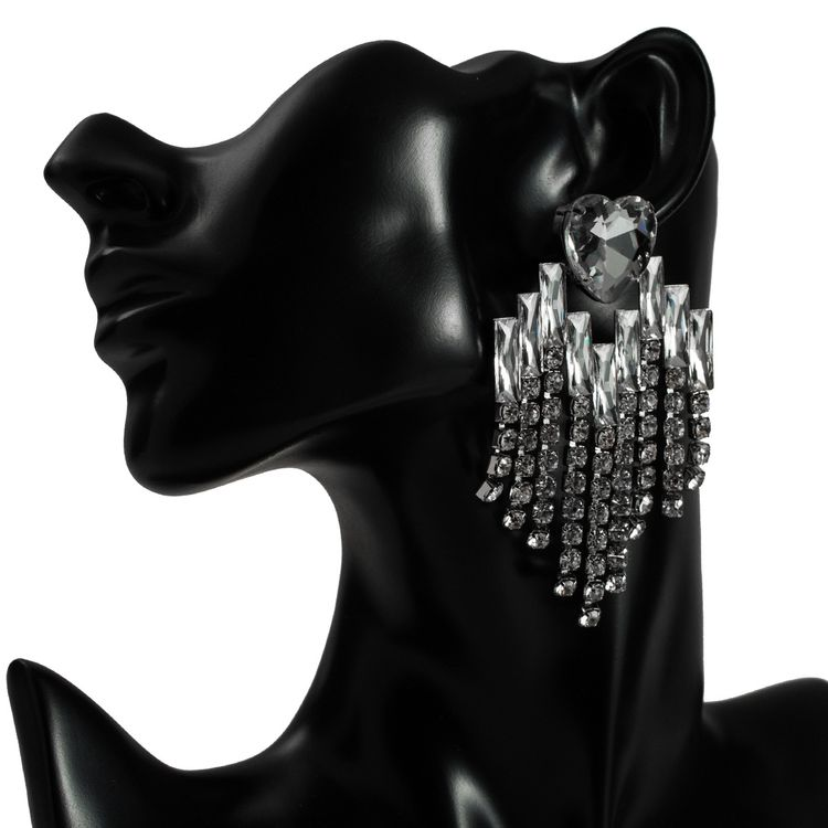 2020 Fashion Love Multiple Fringe Claw Chain Geometry Earrings Fashion Women Party Earrings