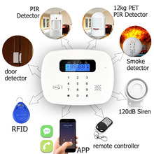 2019 Hot Sell RFID 99 Wireless Zones GSM Smart Alarm System Touch Keypad For Home Security