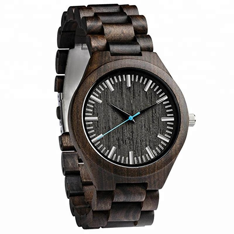 Shenzhen Factory OEM Private Logo Mens Ebony Wooden <strong>Watch</strong> Band