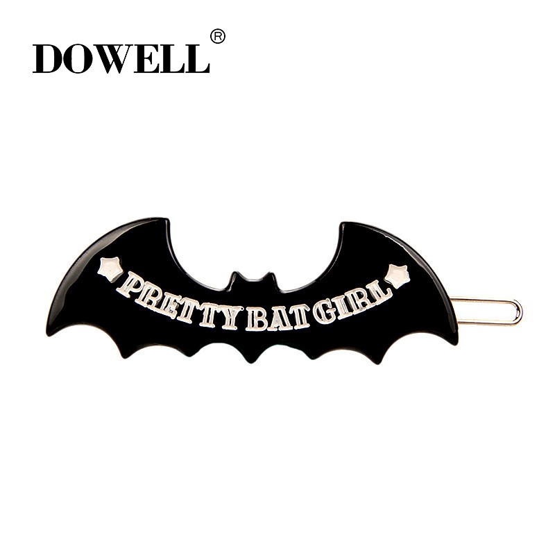 Wholesale Acetate Hair clips Accessories Alligator Hair Clips Bat Shapes word hair pin For women accessories