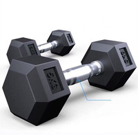 Free weight fitness hex rubber coated weightlifting gym 5 kg dumbbell
