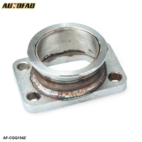 AUTOFAB -2.5''V-Band Adapter Flange For T3 4 Bolt Turbo Stainless Steel SS V Band Adaptor For Toyota Acura Honda BMW AF-CGQ154Z