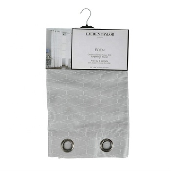 80gsm Polyester Voile Panel Embroidery Window Curtain